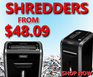 Shredders starting at $48.09!