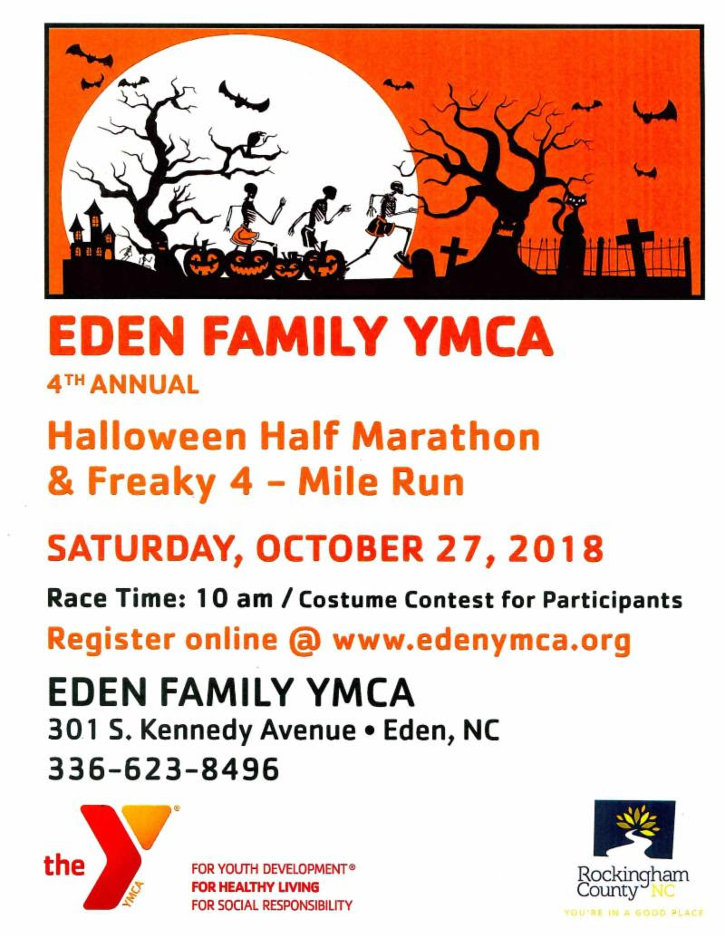 Eden YMCA Halloween Half Marathon @ Eden YMCA | Eden | North Carolina | United States
