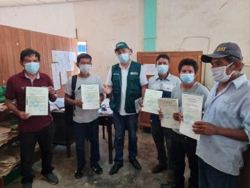 Midagri entrega 616 títulos de propiedad para agricultores y Comunidades Nativas en zona fronteriza con Ecuador