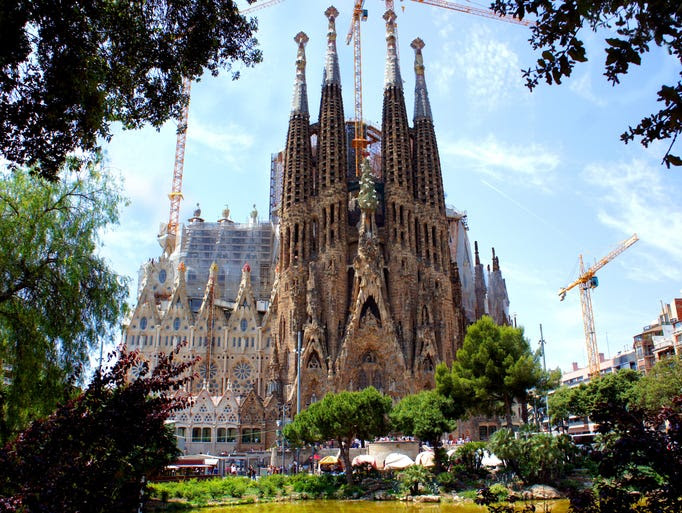 Barcelona's                                                           and Antoni                                                           Gaudi's most                                                           iconic                                                           architectural                                                           work, La                                                           Sagrada                                                           Fam?A?lia,                                                           takes a                                                           surrealist                                                             spin on                                                           classic                                                           cathedral                                                           architecture.                                                           After 130                                                           years, it's                                                           still under                                                           construction.