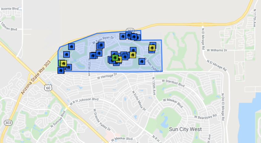 14228 W Caballero Dr   Sun City West, AZ 85375 comp map