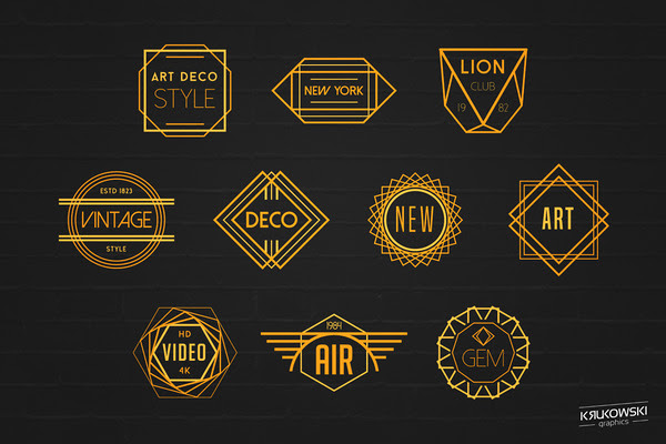 Art Deco Badges Logos