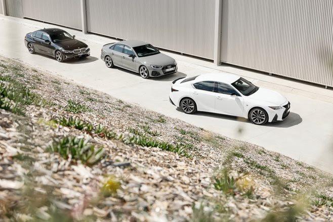 Audi A4 45 TFSI v BMW 330i v Lexus IS300 F Sport