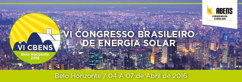 VI CBENS: Congresso Brasileiro de Energia Solar. Newsletter