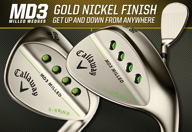 Callaway Mack Daddy 3 Milled wedges available in gold nickel
