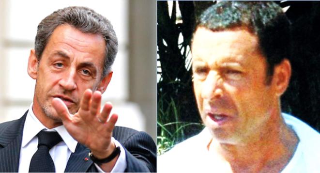 Nicolas Sarkozy et Alexandre Djouhri. © Reuters et                 DR