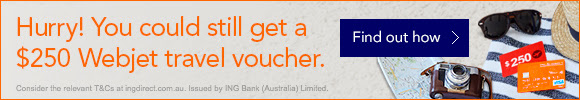 Webjet - Free $250 Travel Voucher