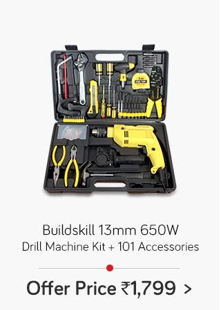 Buildskill 13mm 650W Drill Machine Kit