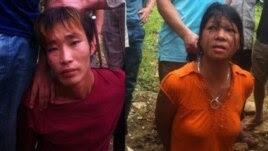 Hai nghi can vụ thảm sát ở Yên Bái.