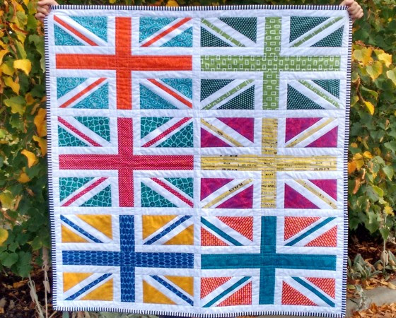 Union Jack Mini Quilt April 2015