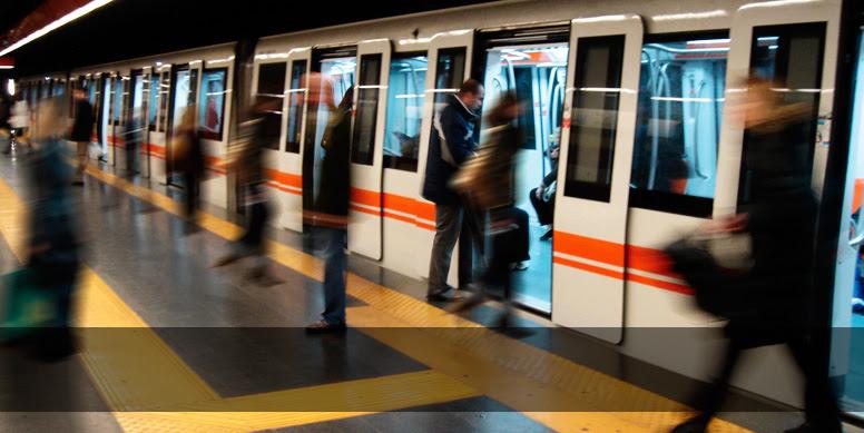 A metro stop