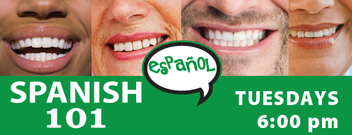 Spanish 101 - Tuesdays 6:00pm, Aug 27-Oct 29, 2019