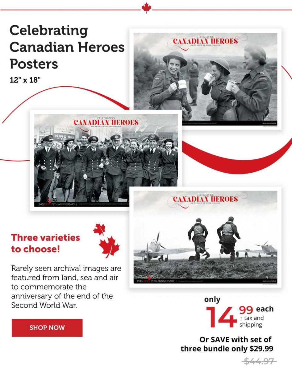 Celebrating Canadian Heroes Posters