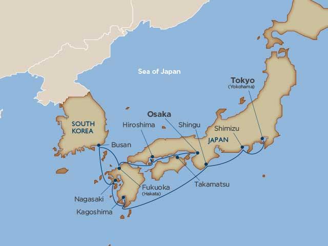 東京~大阪 10泊クルーズ