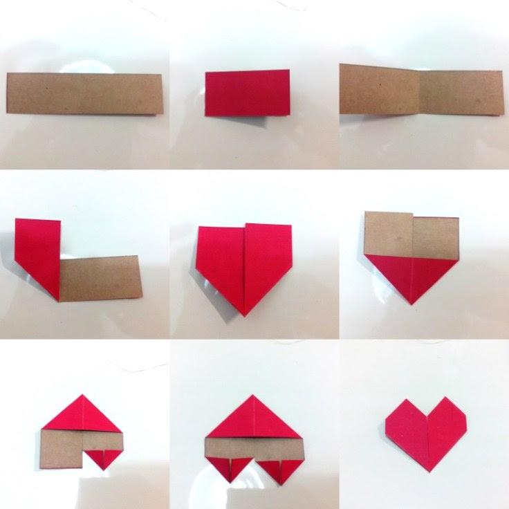 origami dobradura coração simples