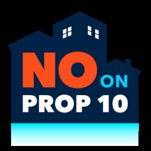No on Prop 10 banner link