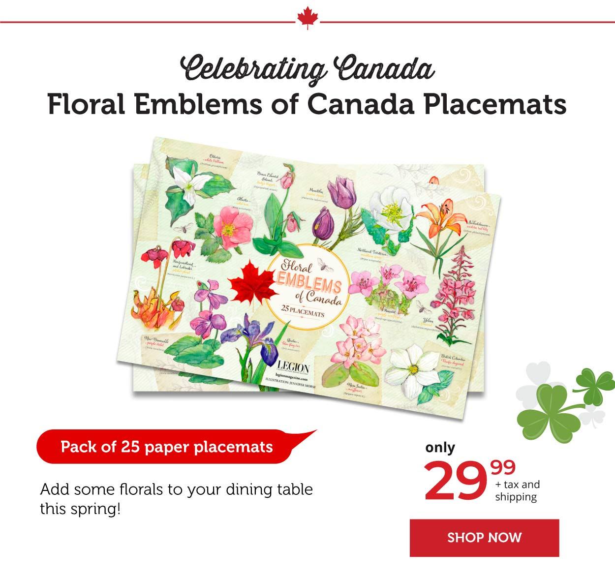 Floral Emblems - Placemats