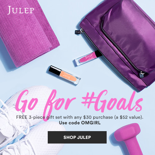 Receive a free 3-piece bonus gift with your $30 Julep purchase