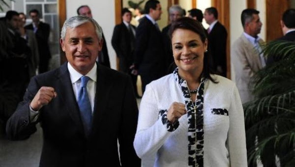 Otto Pérez Molina, y su vicepresidenta, Roxana Baldetti