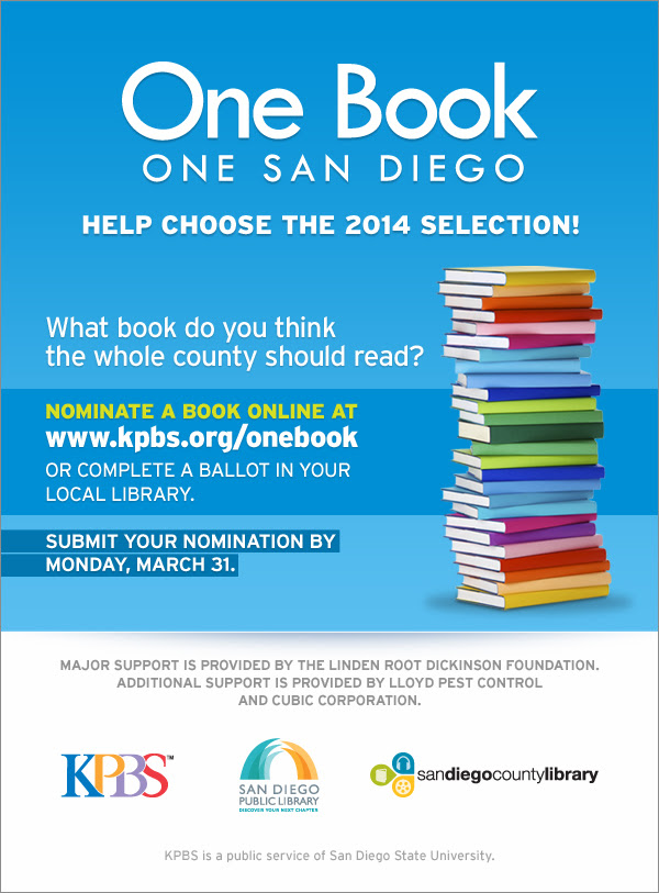One Book, One San Diego Nomination Announcement