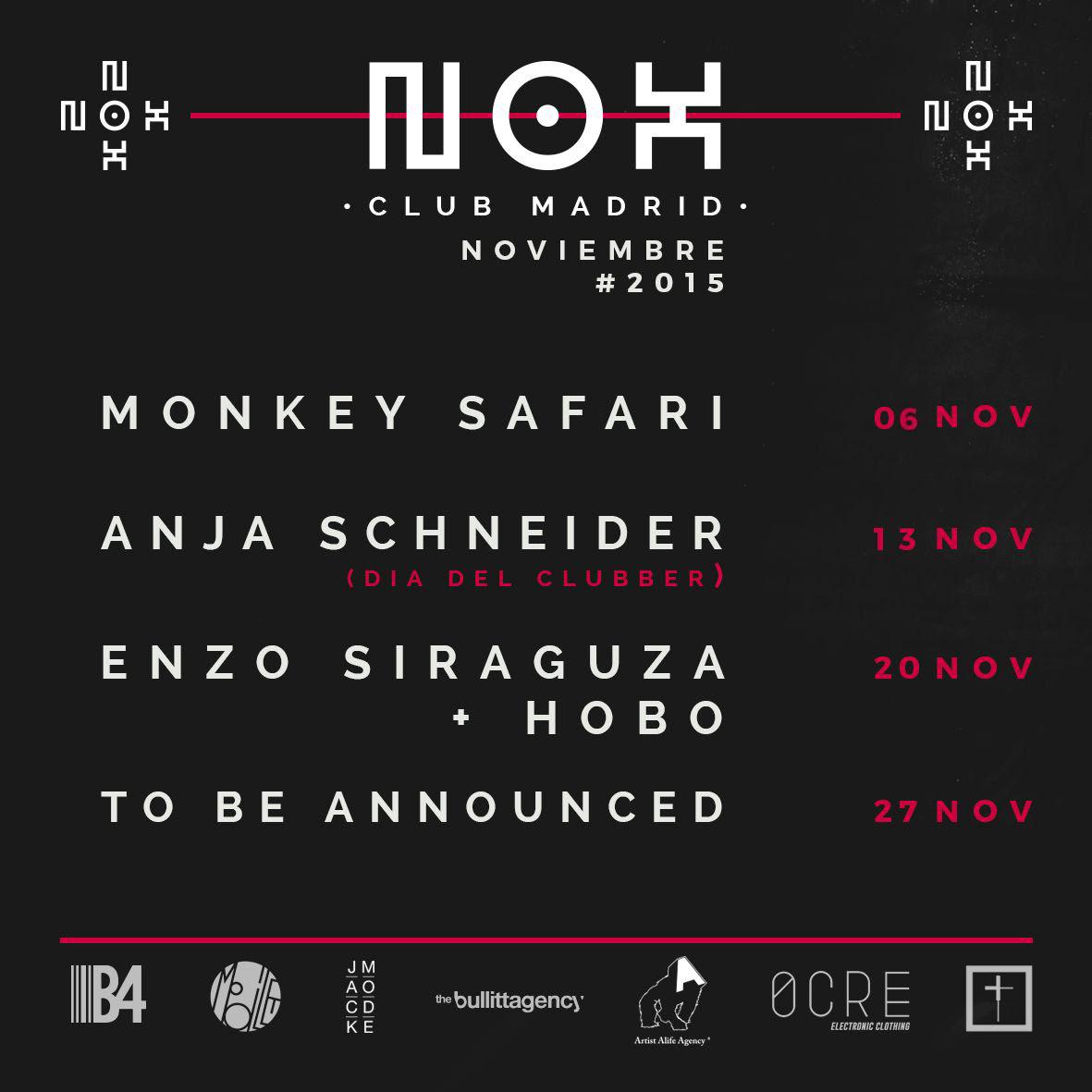 bd2ba906-b7ac-4897-99ae-b1fb76bb83f4 NOX Club Madrid, agenda noviembre