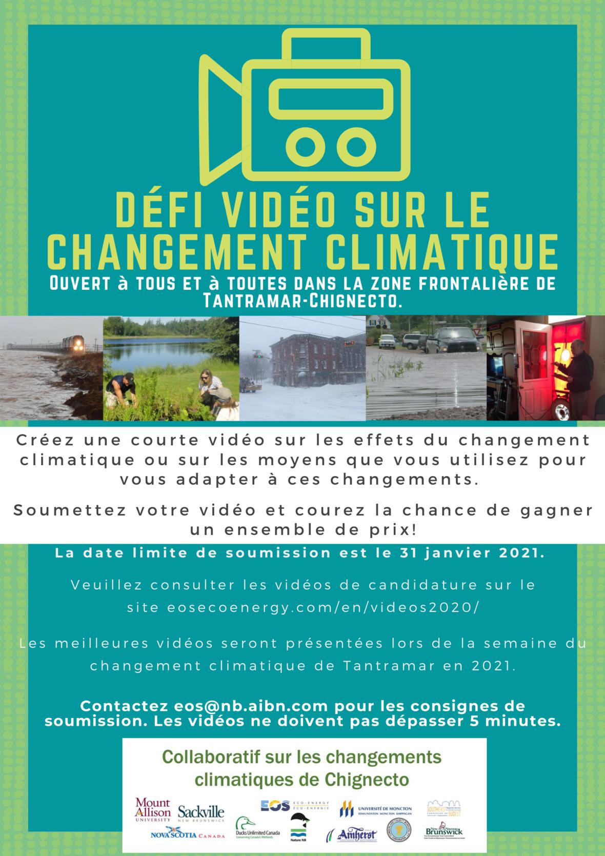 Défi vidéo sur le changement climatique