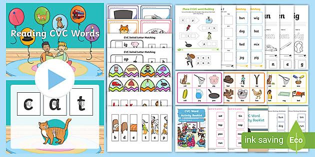 * NEW * Grade 1 Phonics Pack - Consonant -Vowel -Consonant Words (CVC)