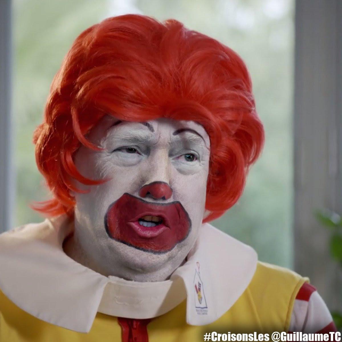 Trump as Ronald McDonald