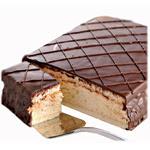 Chocolate-Dipped Cloud Cake