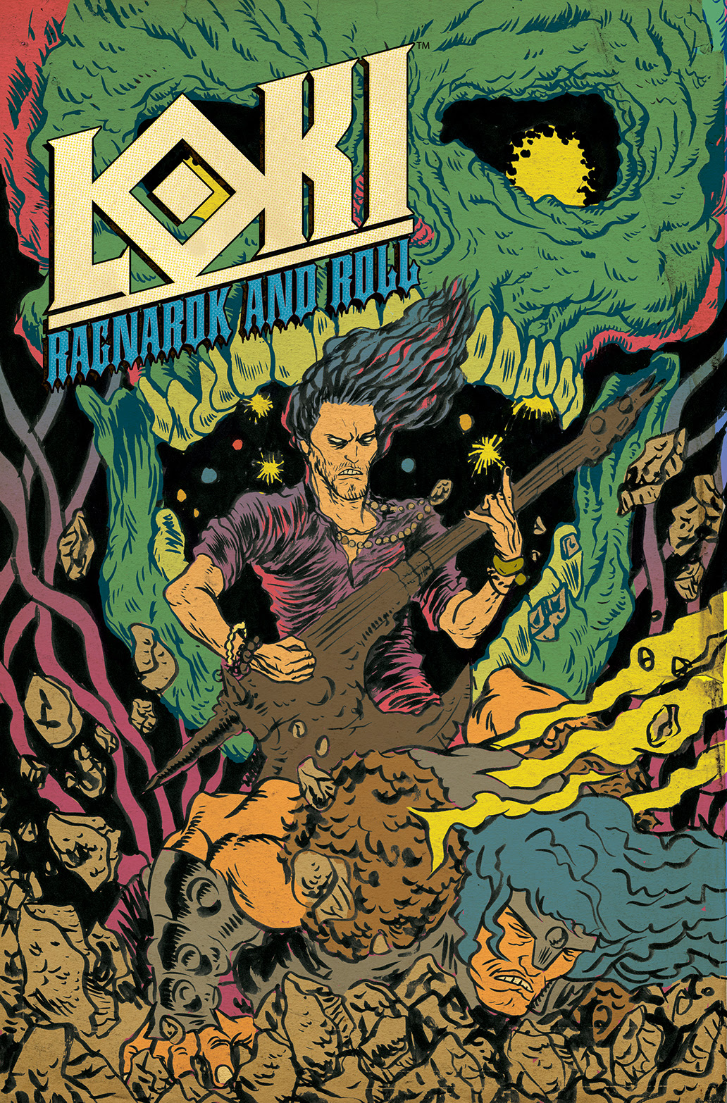 LOKI: RAGNAROK AND ROLL #4 Cover by Alexis Ziritt