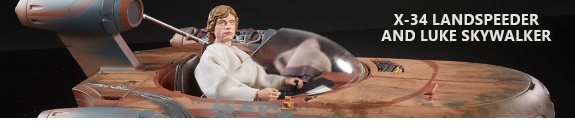 STAR WARS: THE BLACK SERIES X-34 LANDSPEEDER & LUKE SKYWALKER