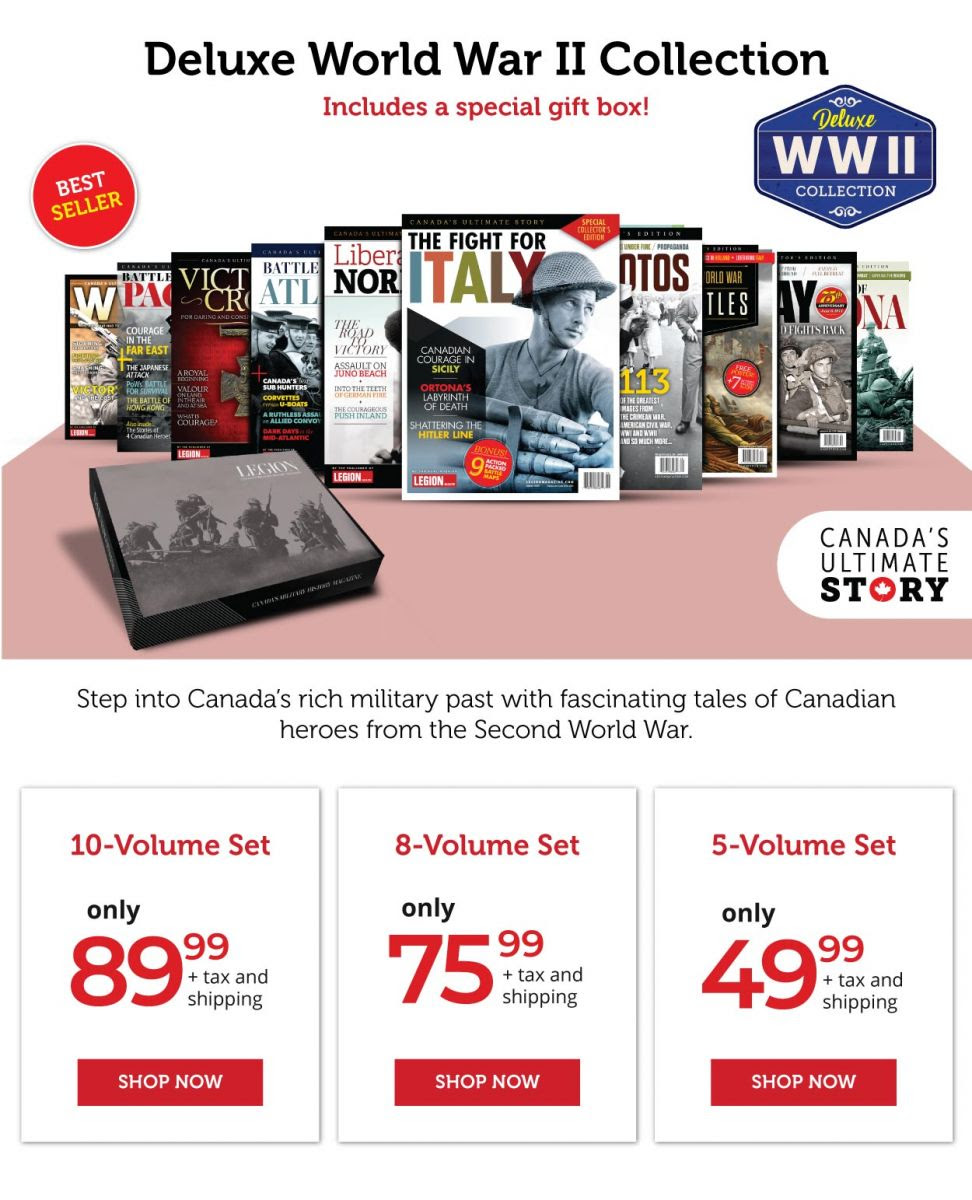 Deluxe World War II Collections 10-8-5 Volume Sets