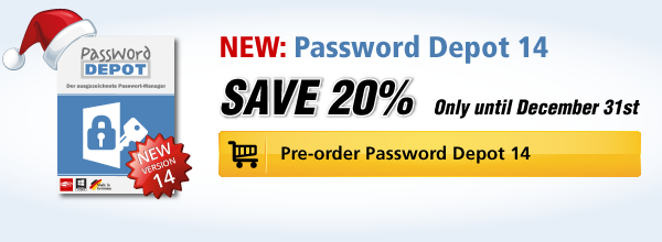 Pre-Order Password Depot 14