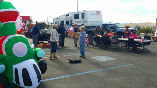 Johnson Construction and Development's 'Fill the Fifth Wheel' event