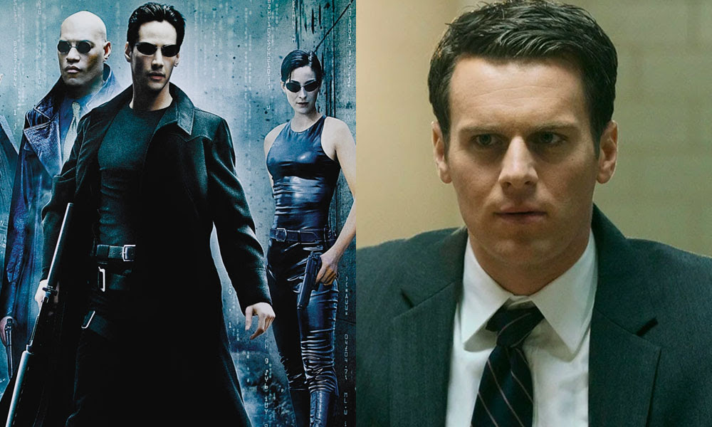 Neo, Trinity and Morpheus from The Matrix / Jonathan Groff