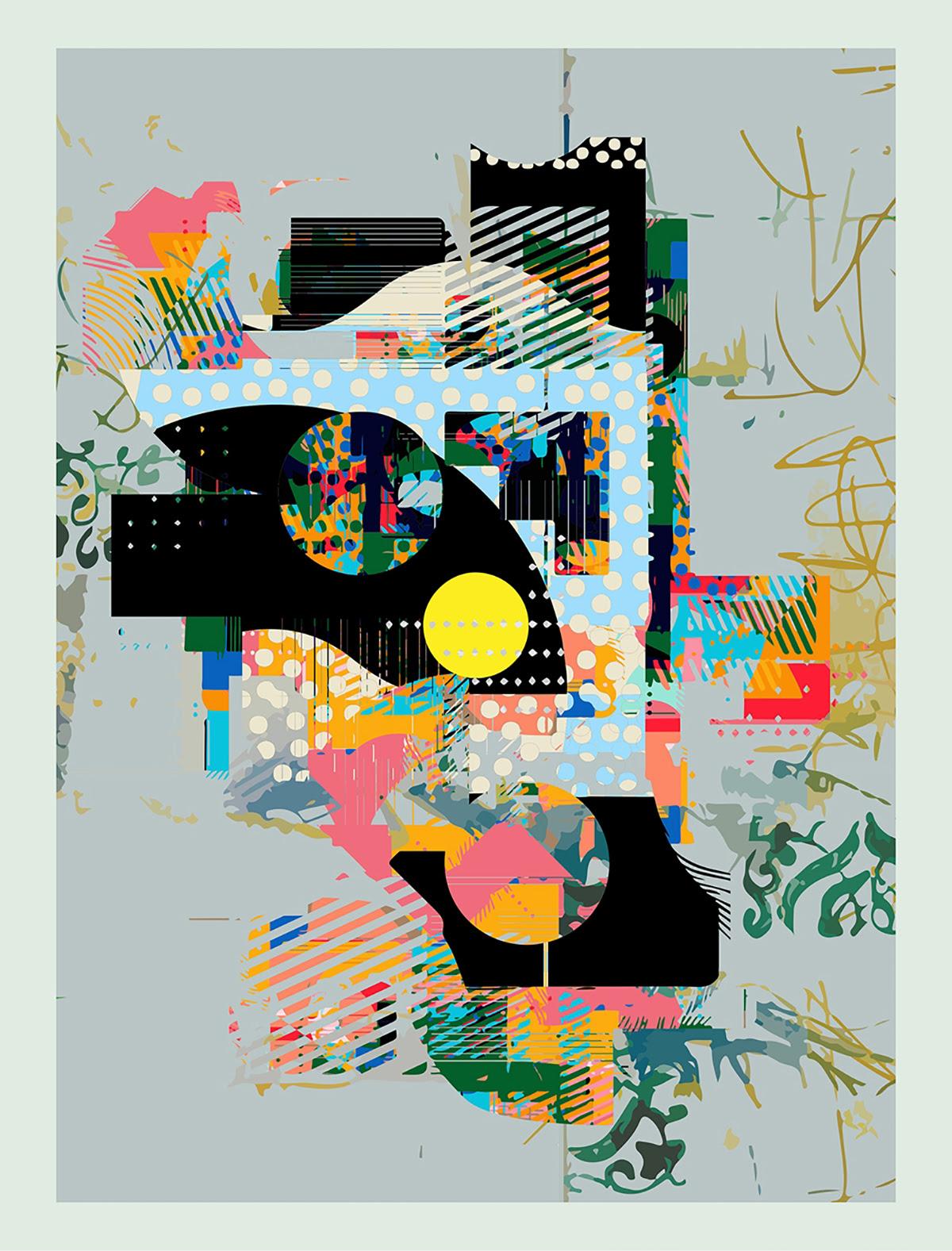 formas abstratas e padrões