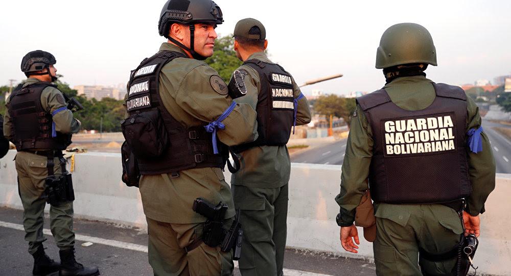 Los militares de la Guardia Nacional Bolivariana