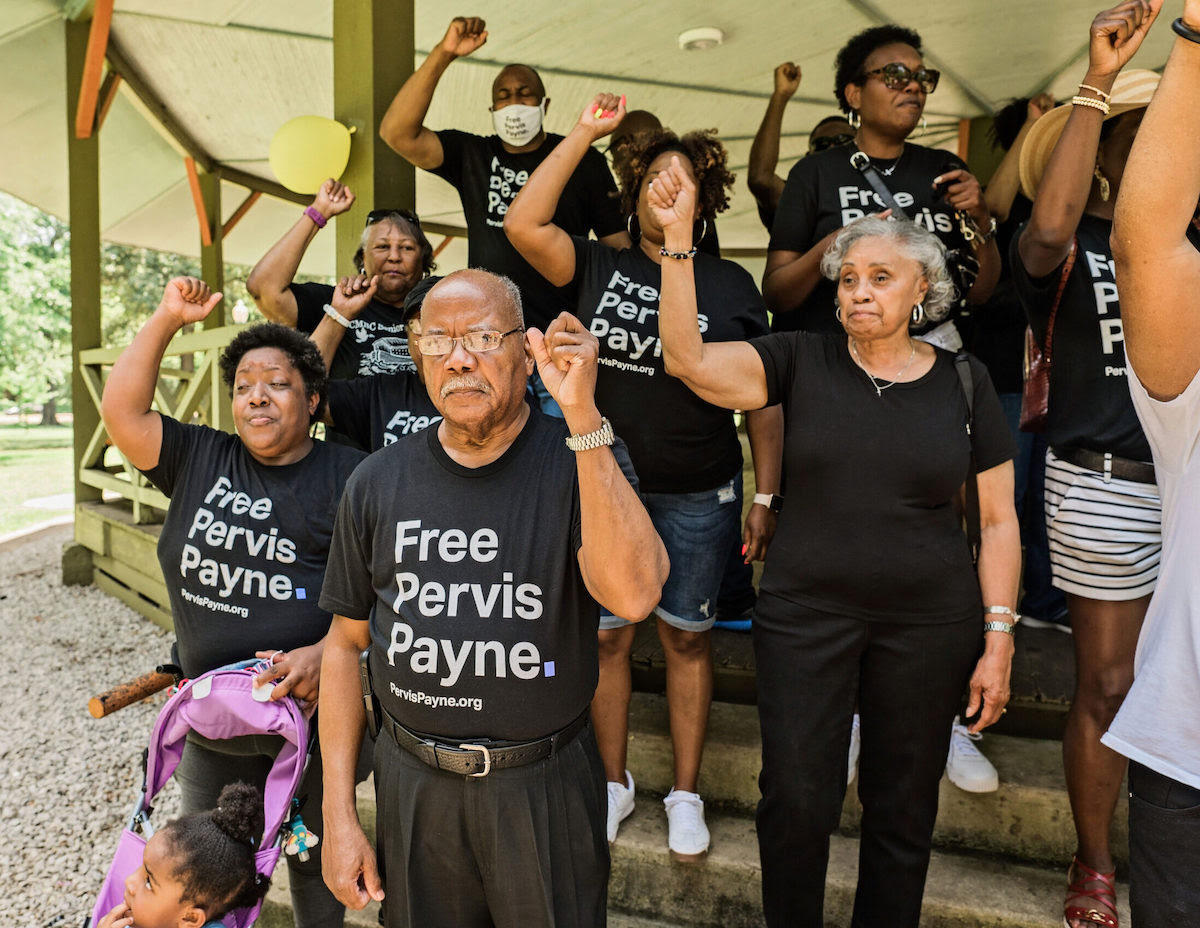Free Pervis Payne rally in Tennessee in June 2021. (Image: Courtesy of Phillip Van Zandt)