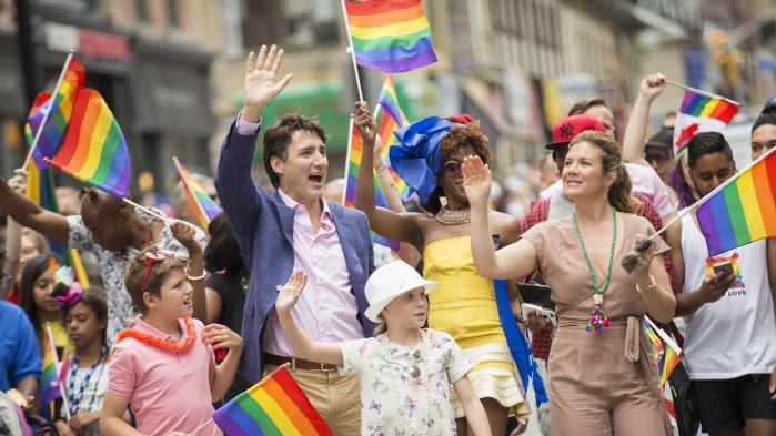 VIDEO. Canada : Justin Trudeau et sa famille participent à la Gay Pride de Toronto