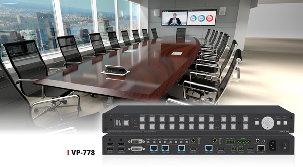 New Matrix Switcher/Dual Scaler High-End Meeting Room Solution