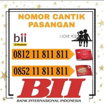 Telkomsel Simpati dan Kartu AS Nomor Cantik Couple Nomer Identik dengan Bank BII Seri Pluang 811 811 Kartu Perdana Prabayar [4G LTE]
