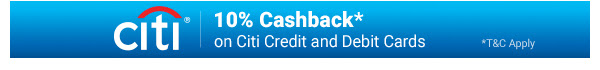 Citi Bank is offering Additional 10% Cashbacks
