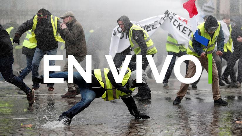 VIDEO, FOTOS: Reprimen duramente en París las protestas contra el alza de precios del combustible