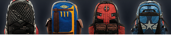 NEW BACKPACKS: MARVEL, FALLOUT, ASSASSIN'S CREED