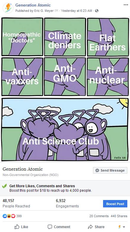 Anti-Science Club Meme