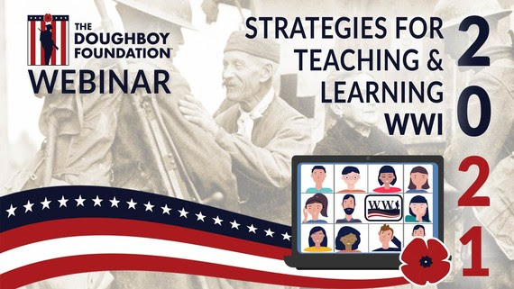 Webinar poster: Strategies for teaching and learning about WWI in 2021