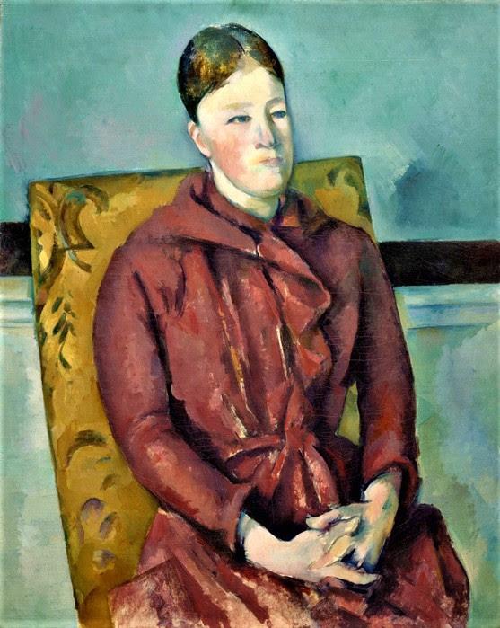Поль Сезанн   «Портрет мадам Сезанн на жёлтом стуле» (1890). Институт искусств в Чикаго (557x700, 118Kb)