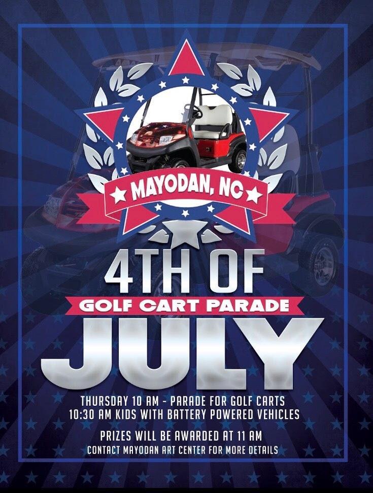 Mayodan July 4th. Golf Cart Parade