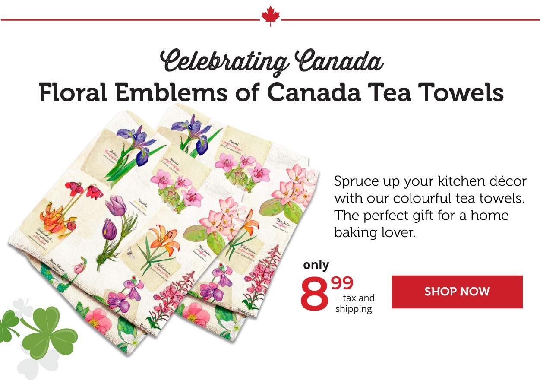 Floral Emblems - Tea Towels