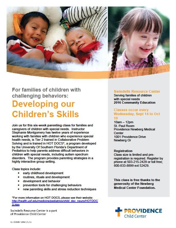 Developing Our Children's Skills (Newberg) @ Providence Newberg Medical Center - St. Paul Room | Newberg | Oregon | United States